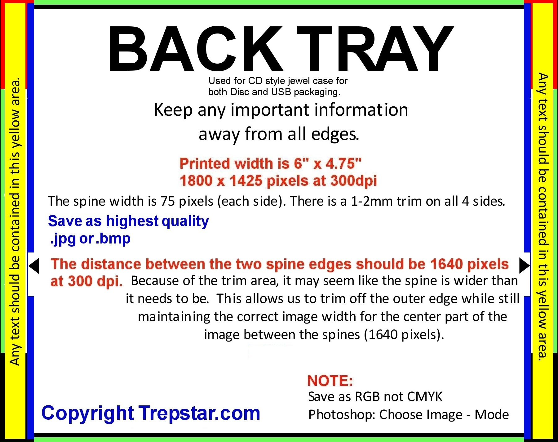 Trepstar Artwork Templates With Dimensions For Cd Dvd Disc